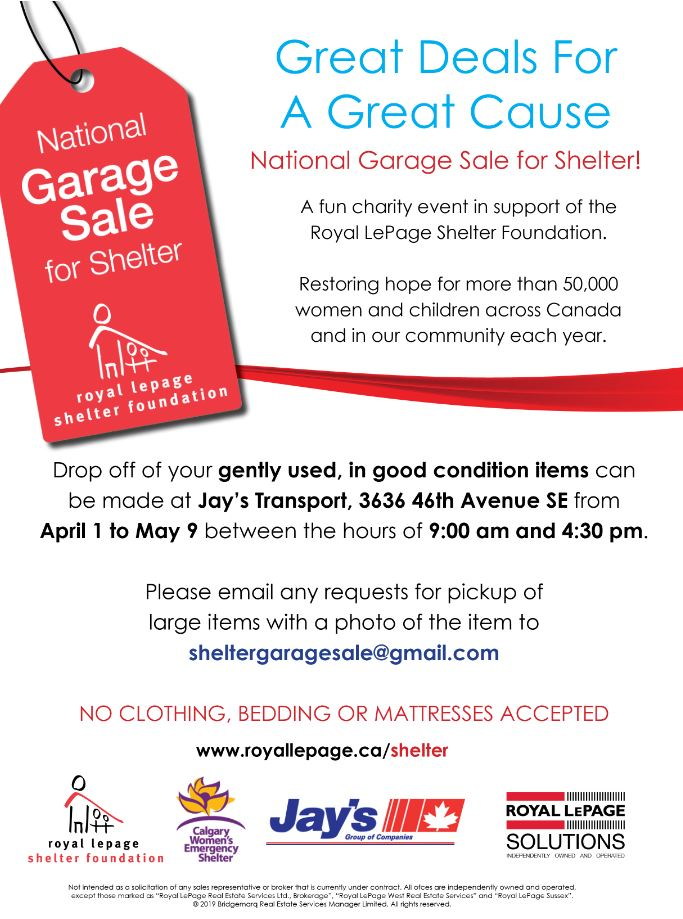 5faad6145 Garage Sale for Shelter